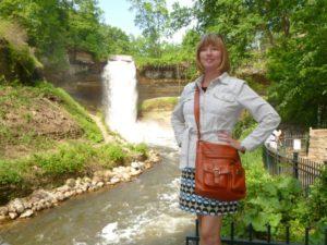 Anna at Minnehaha Falls