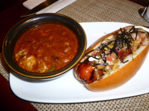 Bachi Dog and Ox-tail Chili at Bachi Burger