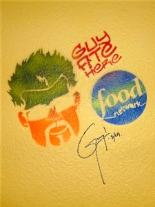 "Guy Fieri's ""Guy Ate Here"" tag at Pizzal-Chick"