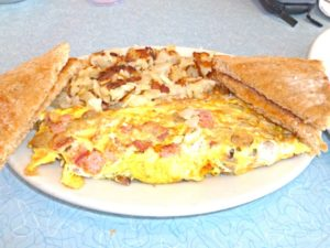 Omelet at White Palace Grill