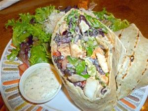 Chicken Wrap at Picabu Bistro