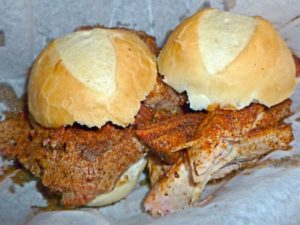 Barbecue Sliders At Honky Tonk