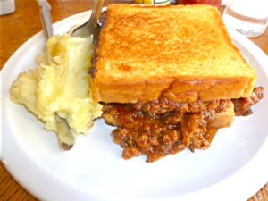 Sloppy Joe at Blue Plate Lunch Counter