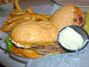 Cheese Steak Sandwich at the Tune Inn