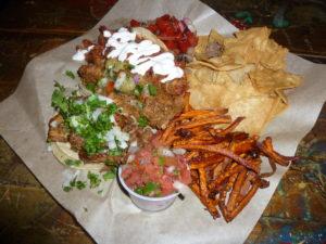 Platter of tacos at Yayo Tacos