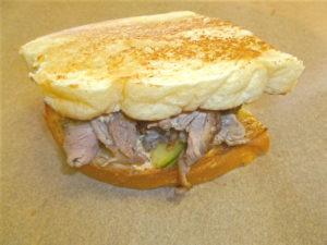 Duck Pastrami Sandwich