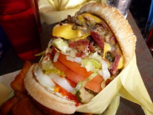 Bacon Double Cheeseburger at Hodad's OB 1502